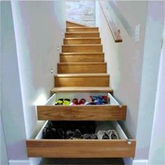 Space Saver --- if they don't come open while walking down the stairs...