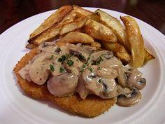 Vegetarisches Champignon-Rahm-Schnitzel  #rezept #vegetarisch #vegetarian #recipe #schnitzel