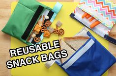 Make Your Own Reusable Snack Bags