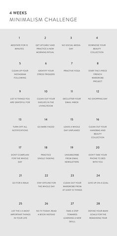 The 4 Weeks Minimalism Challenge 28 Days to declutter my life