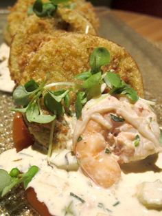 Fried Green Tomatoes and Shrimp Remoulade from BLVD 16 - A photo of Blvd 16 - Hotel Palomar Westwood