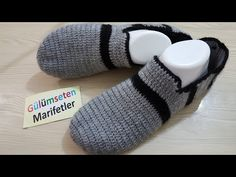 Design of male booties / Patterned booties - Knitting 2019 - 2020 Knit Shoes, Crochet Shoes, Crochet Slippers, Pinterest Crochet, Crochet Men, Ballerina Slippers, Tips And Tricks, Viking Tattoo Design, Sunflower Tattoo Design