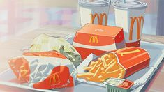 lstnrr: McDonald's never looked better. basically drawing it in anime mode will make it look 100% better