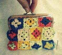 Pontos e Voltas : BOLSAS Crochet Granny Square
