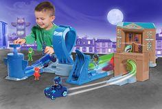 Pj Masks Rival Racers Track Playset Catboy Cat Car Night Ninja Bus Hot Kids Toys