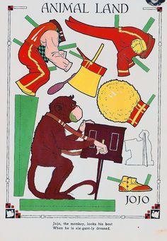 Vintage Paper Doll, Monkey | Flickr - Photo Sharing!