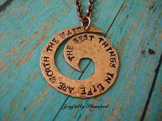 Handstamped Jewelry Copper Swirl Necklace  by JoyfullyStamped, $24.99