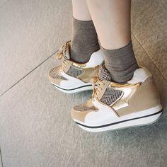 [피팅슈즈]hidden platform sneakers