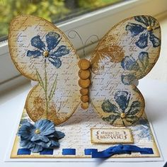 beautiful stand-up card by delores