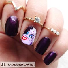 Lacquered Lawyer | Nail Art Blog: Poor Unfortunate Souls | Ursula from The Little Mermaid