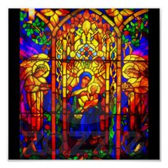 Poster-Vintage Stained Glass Art-8