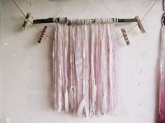 -- Made to Order --  Wall hanging laces banner decor in shabby boho style. Created in pastel shades of pale pink, purple and white.   I've used #driftwood, authentic vintage... #dreamcatcher