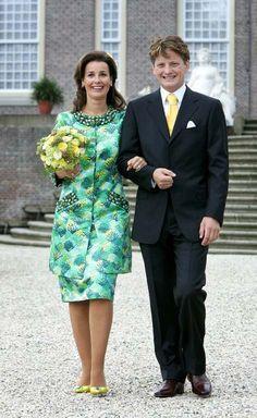 Prince Pieter-Christiaan van Oranje-Nassau, van Vollenhoven and Anita van Eijka in a civil ceremony on 25 Aug 2005
