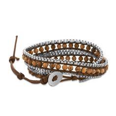 Double Wrap Picture Jasper Fashion Bracelet