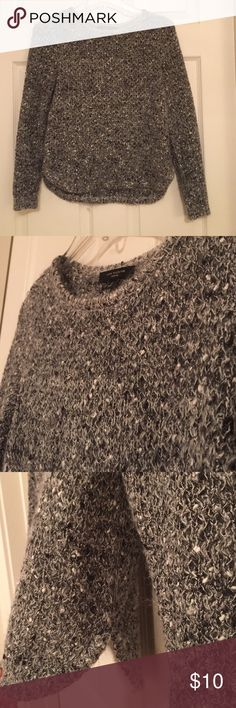 Ann Taylor Petite Marbled Sweater Comfy sweater in good condition. Worn few times. Ann Taylor Sweaters Crew & Scoop Necks