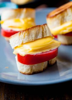 Mini Grilled Cheese Tomato Sandwiches by averiecooks.com
