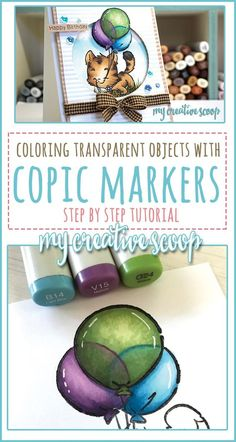 How to Color Transparent Objects using Copic Markers