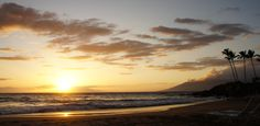 Gorgeous sunset picture at Kalama Park Kihei, Hawaii by Joseph Macomber