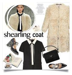 """Shearling coat"" by little-curly-juli ❤ liked on Polyvore featuring moda, Marni, Prada, Valentino, Libertine, Aroma, Salvatore Ferragamo y shearlingcoat"