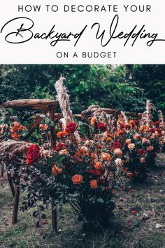 Planning a small wedding? Host your wedding ceremony and wedding reception in your backyard on a budget. Discover how to transform your backyard into an elegant wedding venue with my selection of rustic and bohemian backyard wedding ideas. Click the link to discover how you can decorate your backyard wedding on a budget. #weddingonabudget #backyardweddingideas #outdoorwedding #summerwedding #rusticwedding #bohowedding Elegant Backyard Wedding, Rustic Bohemian Wedding, Sweet Table Wedding, Glamorous Wedding, Casual Wedding, Elegant Wedding, Fall Wedding, Wedding Planning Tips, Budget Wedding