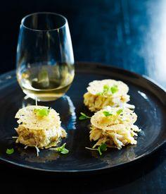 Australian Gourmet Traveller recipe for mud crab sandwich by Shannon Bennett.