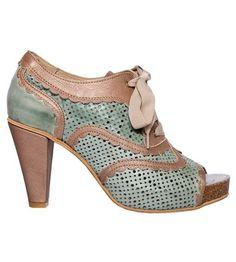 turqouise chunky heel