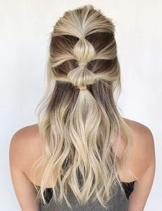 39 Best Braided Hairstyles Ideas 2019 - Page 2 of 4 - Stylish Bunny Prom Hairstyles For Long Hair, Cool Braid Hairstyles, Trendy Hairstyles, Wedding Hairstyles, Easy Braided Hairstyles For Long, Cute Simple Hairstyles, Braid Styles, Short Hair Styles, Hippie Hair