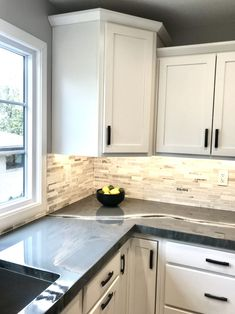 City House Kitchen – The Marshall Remodel Kitchen Room Design, Cozy Kitchen, Kitchen Redo, Kitchen Colors, Kitchen Remodel, Kitchen Pantry, Kitchen Tiles, Kitchen Cabinets With Black Appliances, Country Kitchen Cabinets