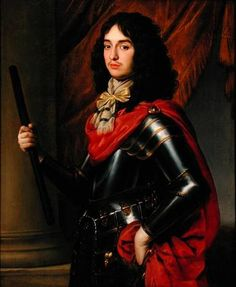 Gerrit van Honthorst - Portrait of Prince Edward of the Palatinate (1625-63) in Armour