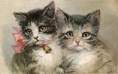 Vintage Adorable Kittens Image! - The Graphics Fairy