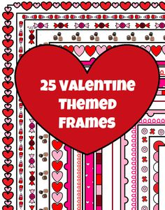This zip files includes 25 Valentine's Day themed borders for you to use for your products on TpT or other products/materials for your classroom. It also Includes a picture guide to show you how to install them on Microsoft Word. You may alter them to fit your needs personally and commercially. Please provide a link back to this page!