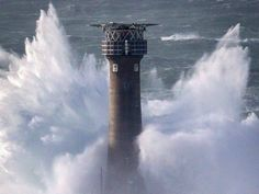 LAND'S END, UNITED KINGDOM - FEBRUARY 08:  Waves crash over the Longships Lighthouse just off Land's End on February 8, 2016 in Cornwall, England. Parts of the UK are currently being battered by Storm Imogen, the ninth named storm to hit the UK this season.  Thousands of homes have been left without power and commuters hit by road and rail chaos as Storm Imogen batters the South with gale force winds and torrential rain.
