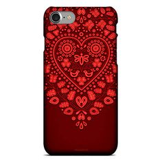 Srdénko bordó SLIM (iphone 8) / SlovakiaGift - SAShE.sk Folk, Phone Cases, Folk Music, Popular, People