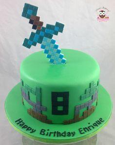 minecraft cake, diamond sword