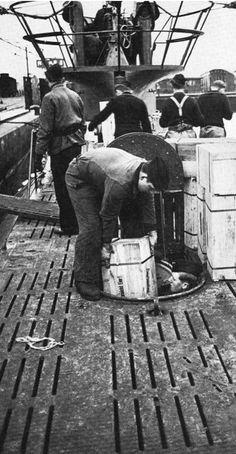 German submarine, WWII
