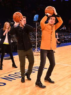 """AND playing basketball together: 