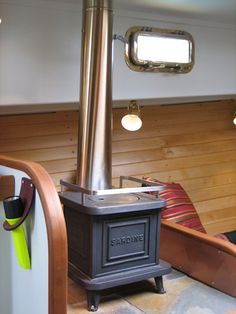 Sardine Stoves are our favorite heating and stovetop option for boats or cabins