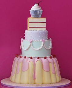 beige & pastel shower | categorías pasteles boda pasteles xv años pasteles baby shower ...
