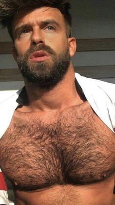 Hairy Hunks, Hunks Men, Hairy Men, Bearded Men, Scruffy Men, Beefy Men, Awesome Beards, Moustaches, Muscular Men