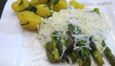 fischis cooking and more: gebratener grüner spargel mit parmesansauce