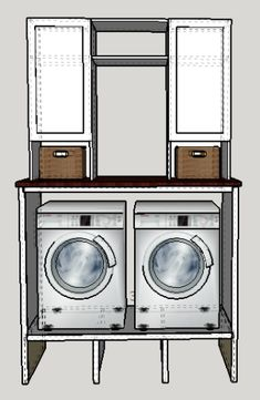 I just finished building these cabinets to accompany the washer and dryer pedestal surround I built previously. The cut list for this project is included in that tutorial, so you end up only …