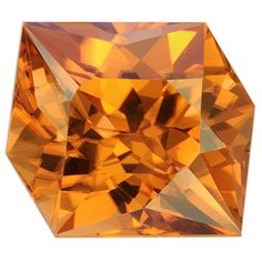 Natural orange fancy cut Zircon weighing 5.640, from Sri Lanka.  More @ www.multicolour.com and #gemstone