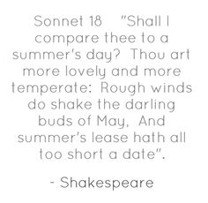 Sonnet 18 and crikey
