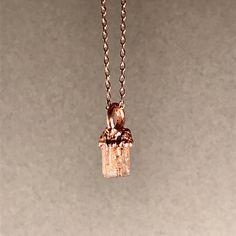 imperial topaz pendant electroformed jewelry precious topaz