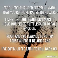 "Hunter Hayes, ""Faith to Fall Back On"""