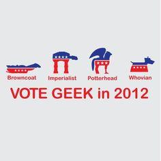 Vote Geek in 2012.