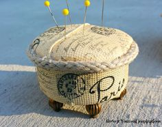 Pin Cushions from Tuna Cans