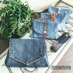 Image may contain: 2 people very interesting upcycled denim applique bag by alexandria - Salvabrani Idea backpack for recycling jeans. A beaded Pocket purse that I made from an old pair of Wrang Image gallery – Page 467530005064398536 – Artofit Artisanats Denim, Denim Purse, Denim Bags From Jeans, Denim Rug, Denim Quilts, Jean Crafts, Denim Crafts, Diy Jeans, Jean Diy