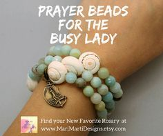 "Say, ""Hello"" to your New Favorite Catholic Rosary!  This Rosary Bracelet is cleverly designed by Marijean at www.marimartidesigns.etsy.com to hold your place if you get interrupted!  With a beach vibe and a Vintage Reproduction Stella Maris Medal, what's not to fall in love with?  Great Catholic Gift Idea for Mom or Gift for a Friend!"
