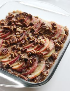 Gooey Apple Pecan Bars - Not a Single Drop of Dairy Was Used in the Making of This Perfect Apple Dessert